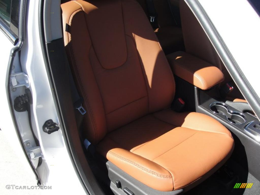 Ginger Leather Interior 2011 Ford Fusion SEL Photo