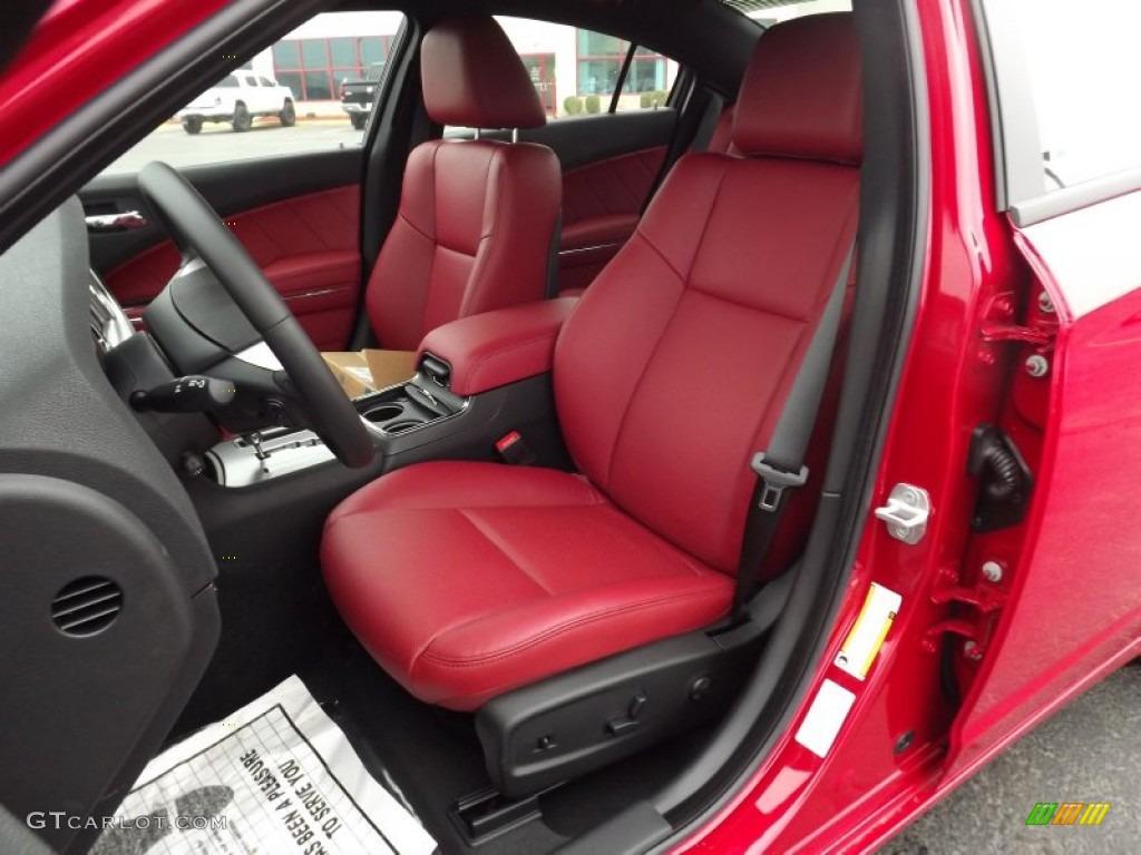 BlackRed Interior 2012 Dodge Charger RT Plus Photo