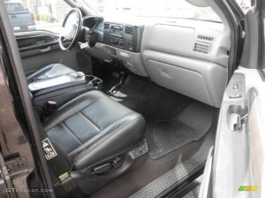 Black Interior 2003 Ford F250 Super Duty XLT Crew Cab 4x4