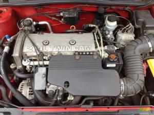 2002 Chevrolet Cavalier Z24 Coupe 24 Liter DOHC 16Valve 4 Cylinder Engine Photo #65504831