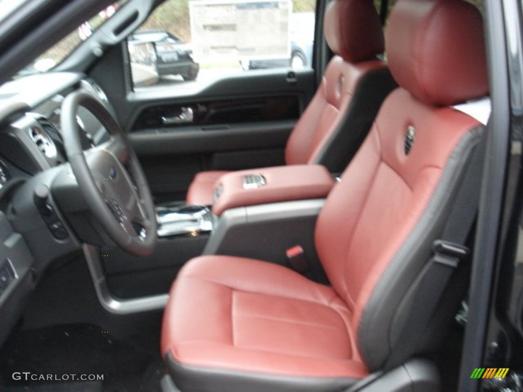 Limited Unique Red Leather Interior 2013 Ford F150 Limited