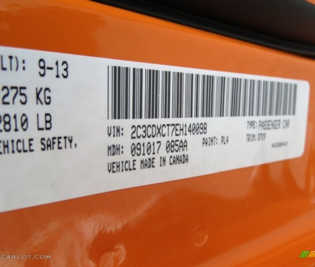 2014 Dodge Charger R T Color Code Photos