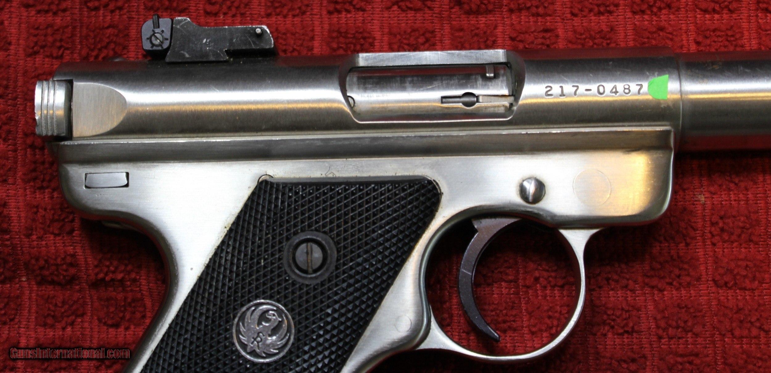 Ruger Mkii Target 22lr Caliber Pistol Stainless Target