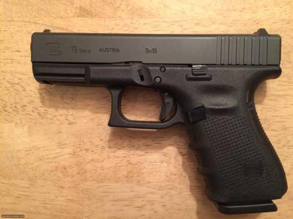 Glock 19 G19 Gen 4 9mm - 4 (15) Round Mags – New