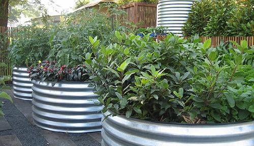 Galvanised Steel Garden Planters