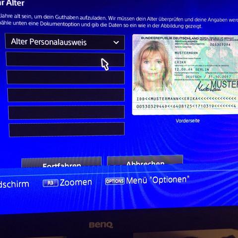 Alter bestätigen ausländer psn PS4 Alter
