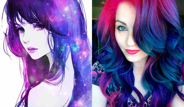 Galaxy Hair Selber Machen Oder Zum Friseur Haare Farbe