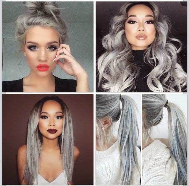 Haare Frben Von Blond Auf Grau
