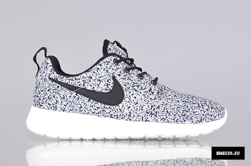 Nike Roshe Run Print Schwarz Weiss Grau Gepunktet Woher