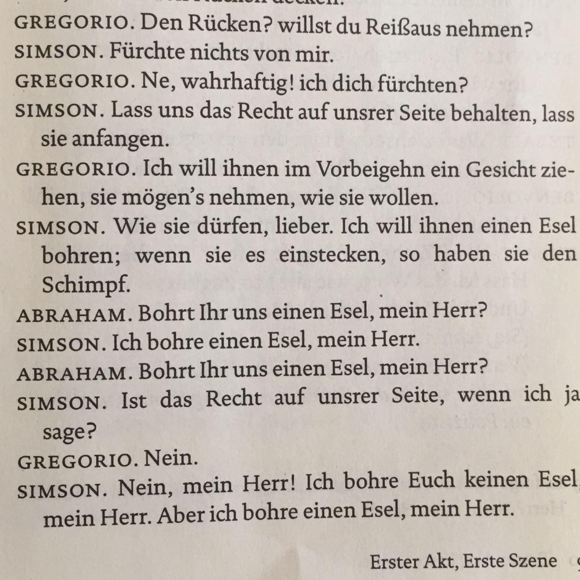 Texterklarung Romeo Und Julia Schule Buch Lesen