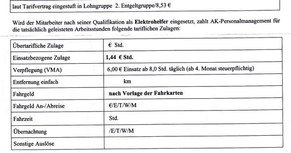 Gehaltserhöhung Zusatz Zum Vertrag : Zeitarbeit Einsatzbezogene Zulage Arbeitsrecht Tarife
