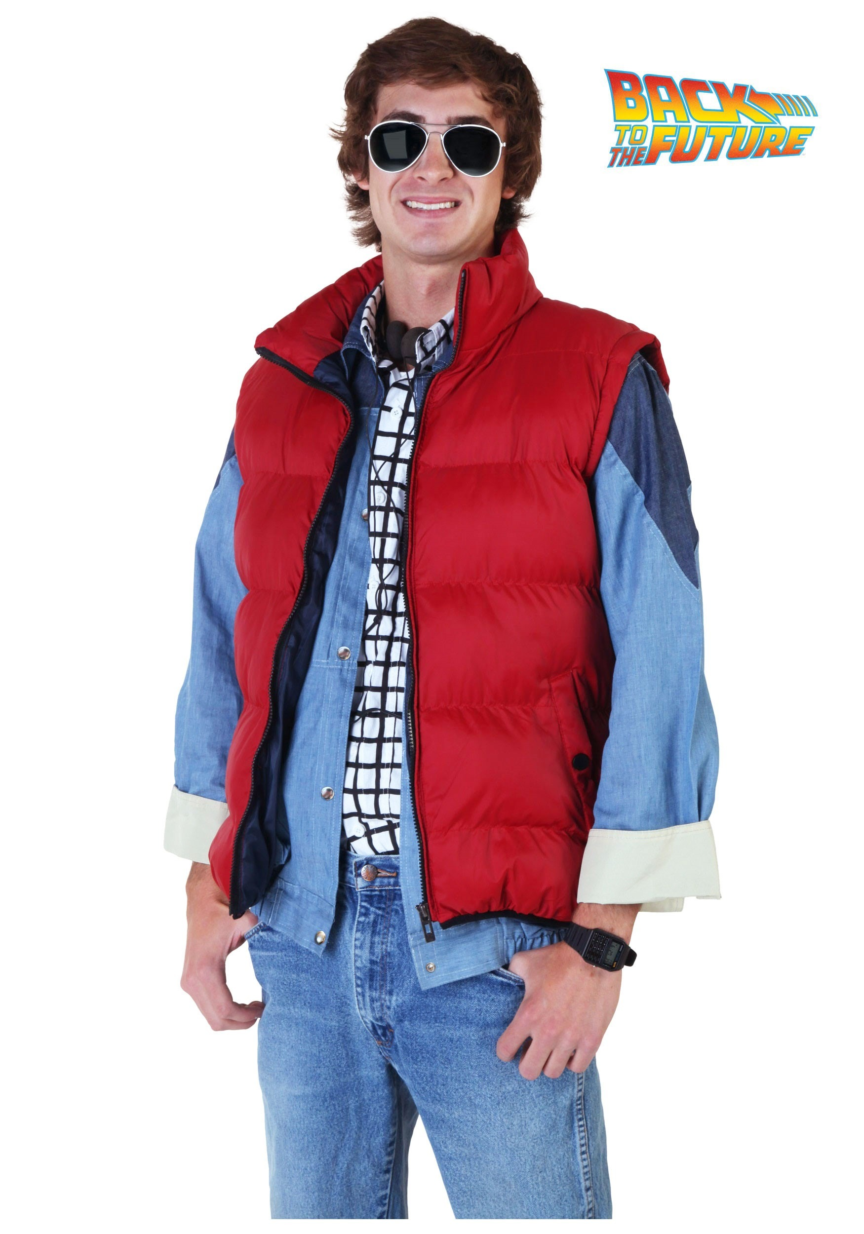Back To The Future Marty Mcfly Vest Costume