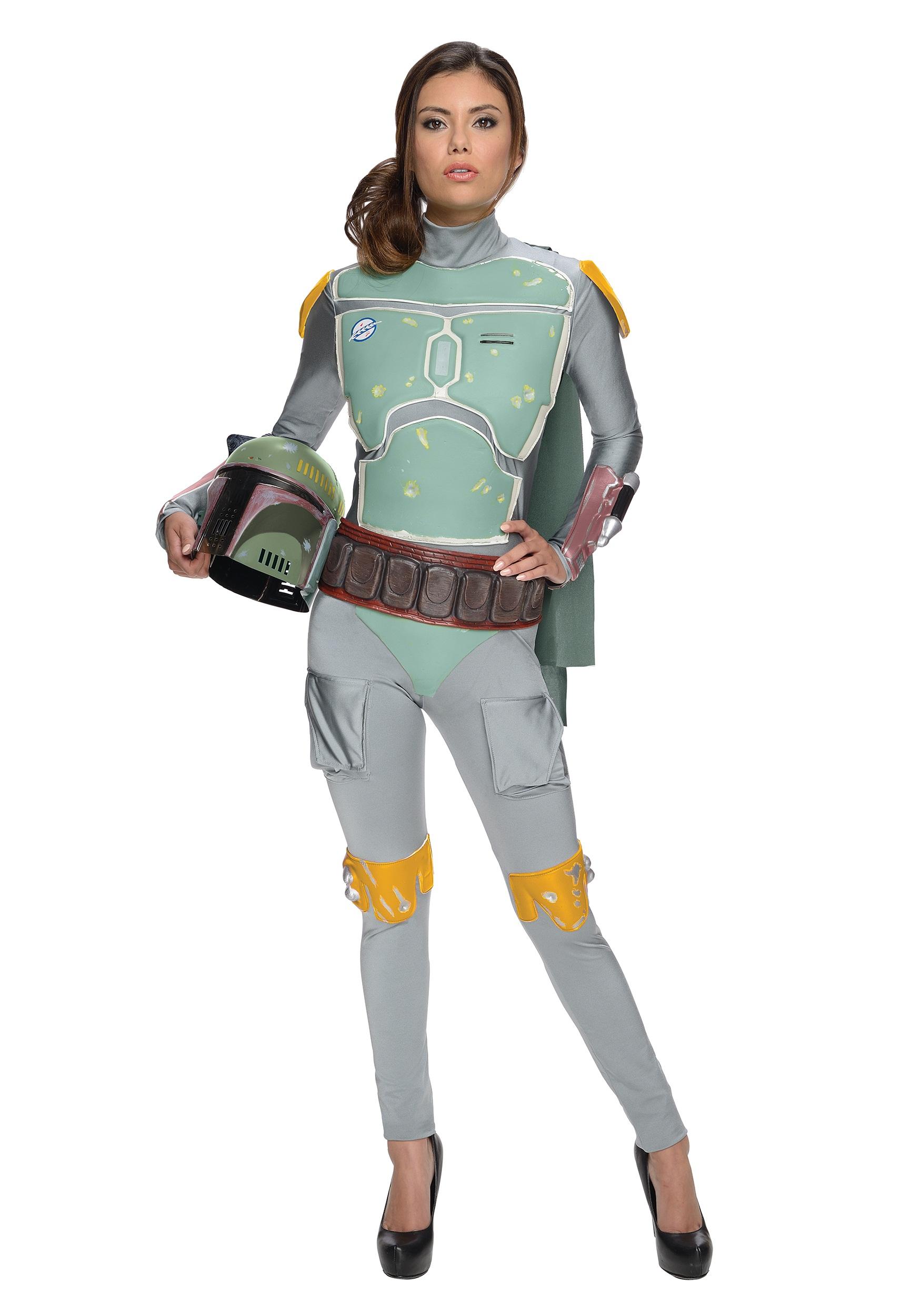 Star Wars Female Boba Fett Bodysuit Costume