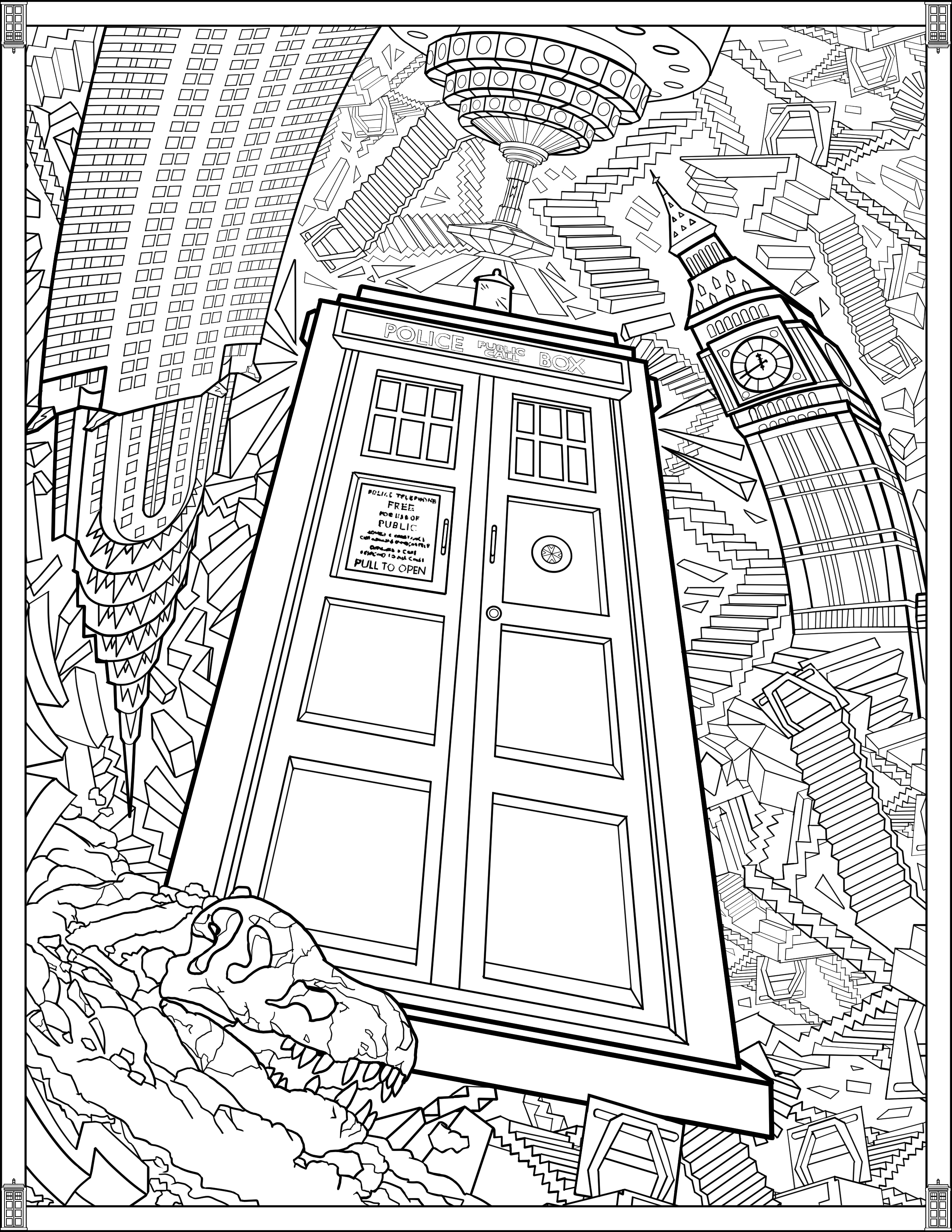 Doctor Who Wibbly Wobbly Timey Wimey Coloring Pages