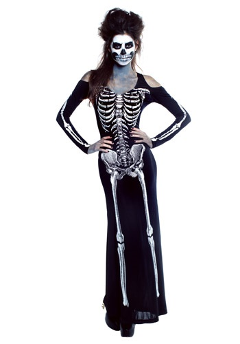 Women's Bone Appetit Skeleton Long Dress