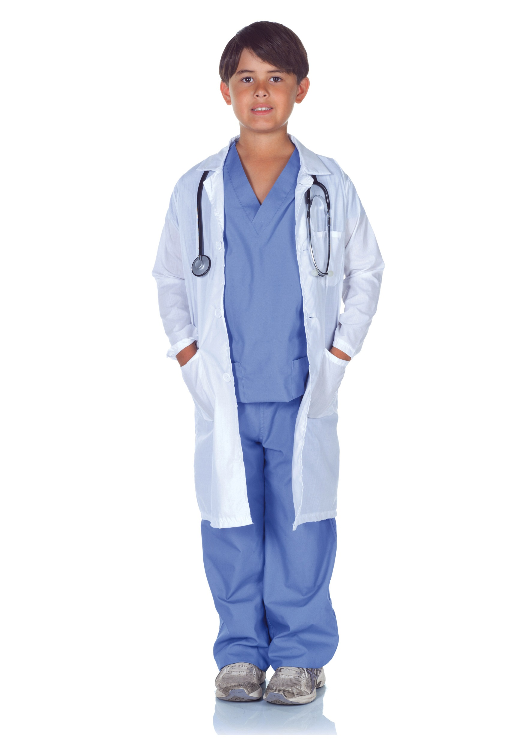 Doctor Scrubs With Lab Coat Costume For Kids