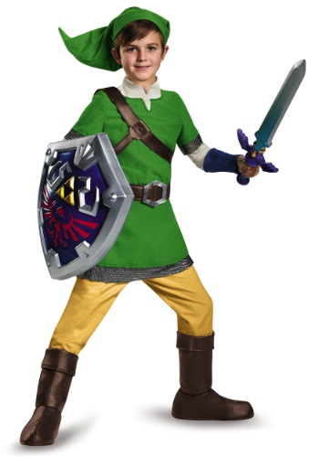 legend of zelda costumes for boys - Deluxe Child Link Costume