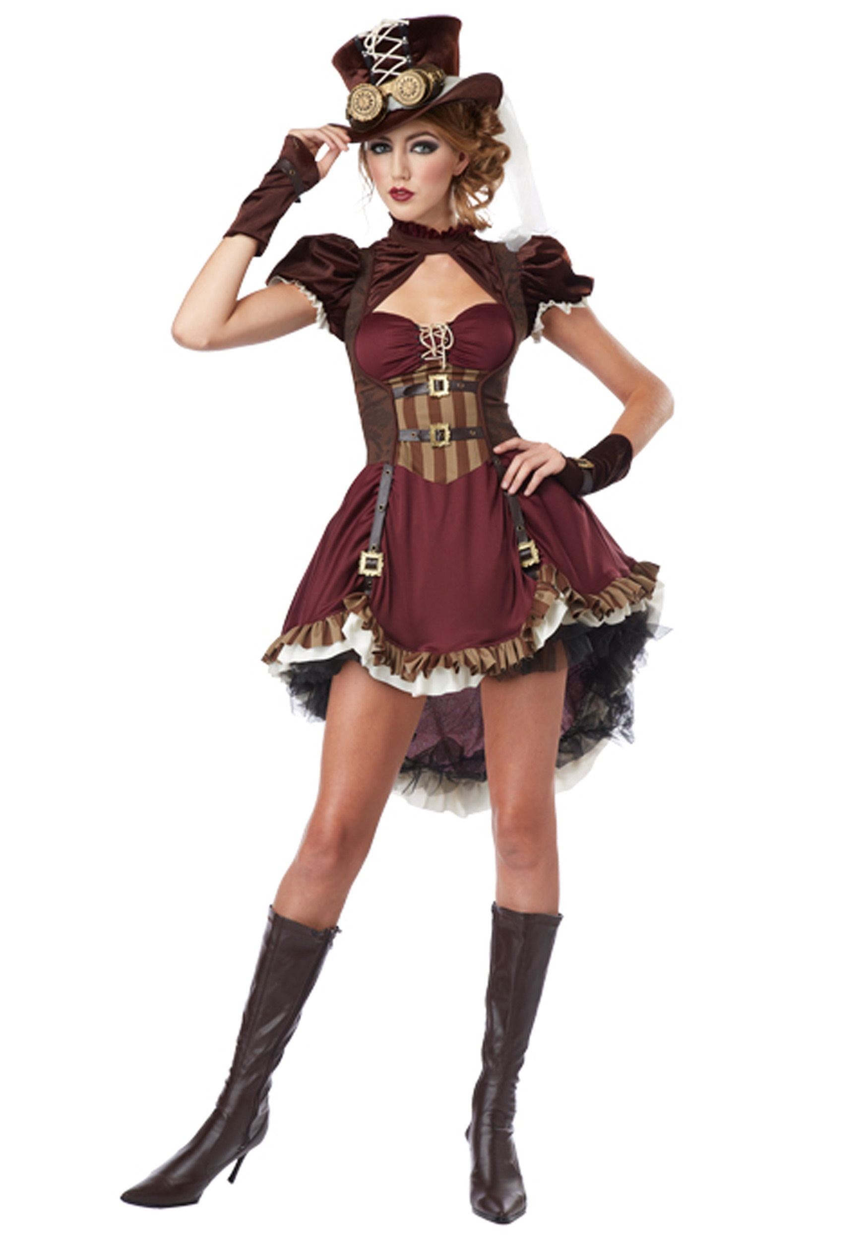 Women S Plus Size Steampunk Lady Costume