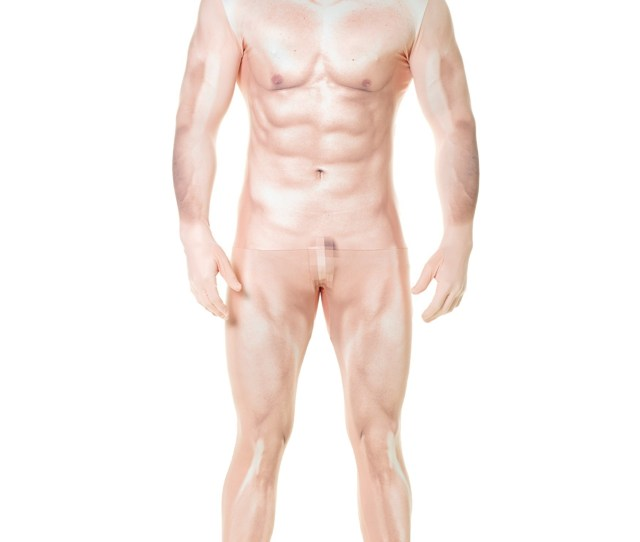 Naked Sexy Man Faux Real Morphsuit Costume For Adults