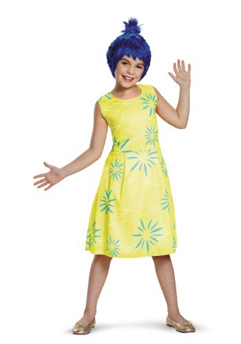 Girls Inside Out Joy Classic Costume