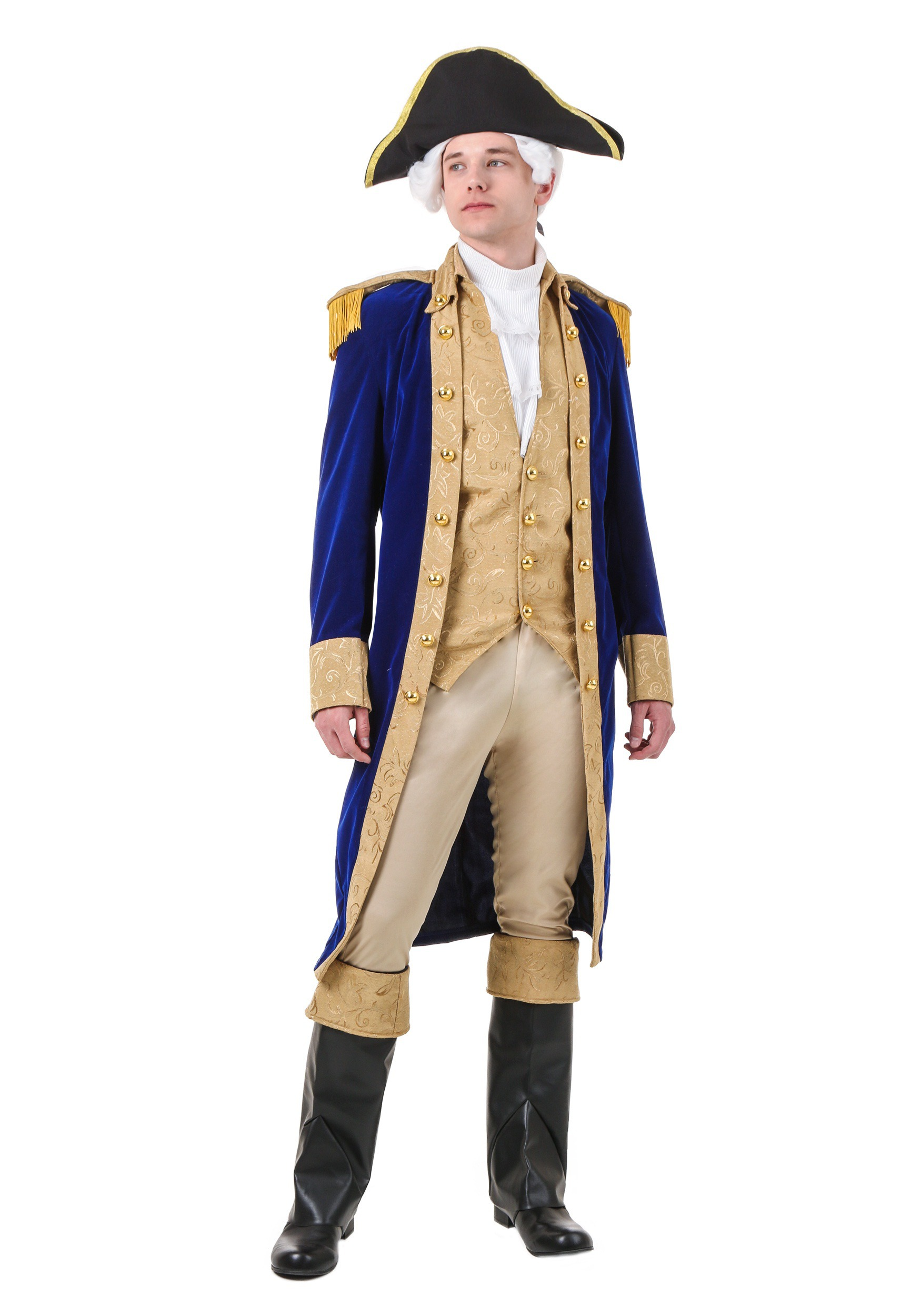 Men S Plus Size George Washington Costume