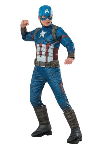 Captain America Civil War Costumes - captain america elite costume for boys
