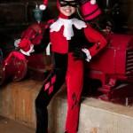 Harley Quinn Jumpsuit Costume For Kids