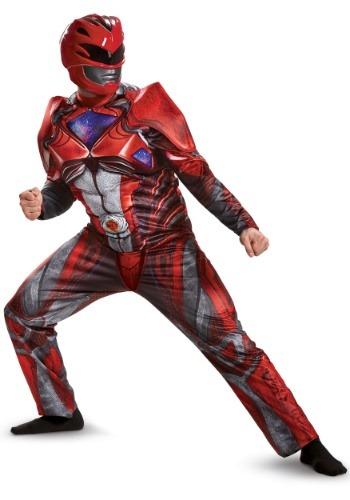 Power Rangers Movie Red Ranger Deluxe Men's Costume