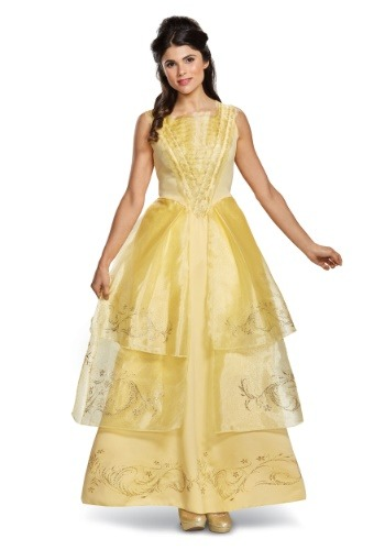 beauty and the beast movie costumes - Belle Ball Gown Deluxe Women's Costume