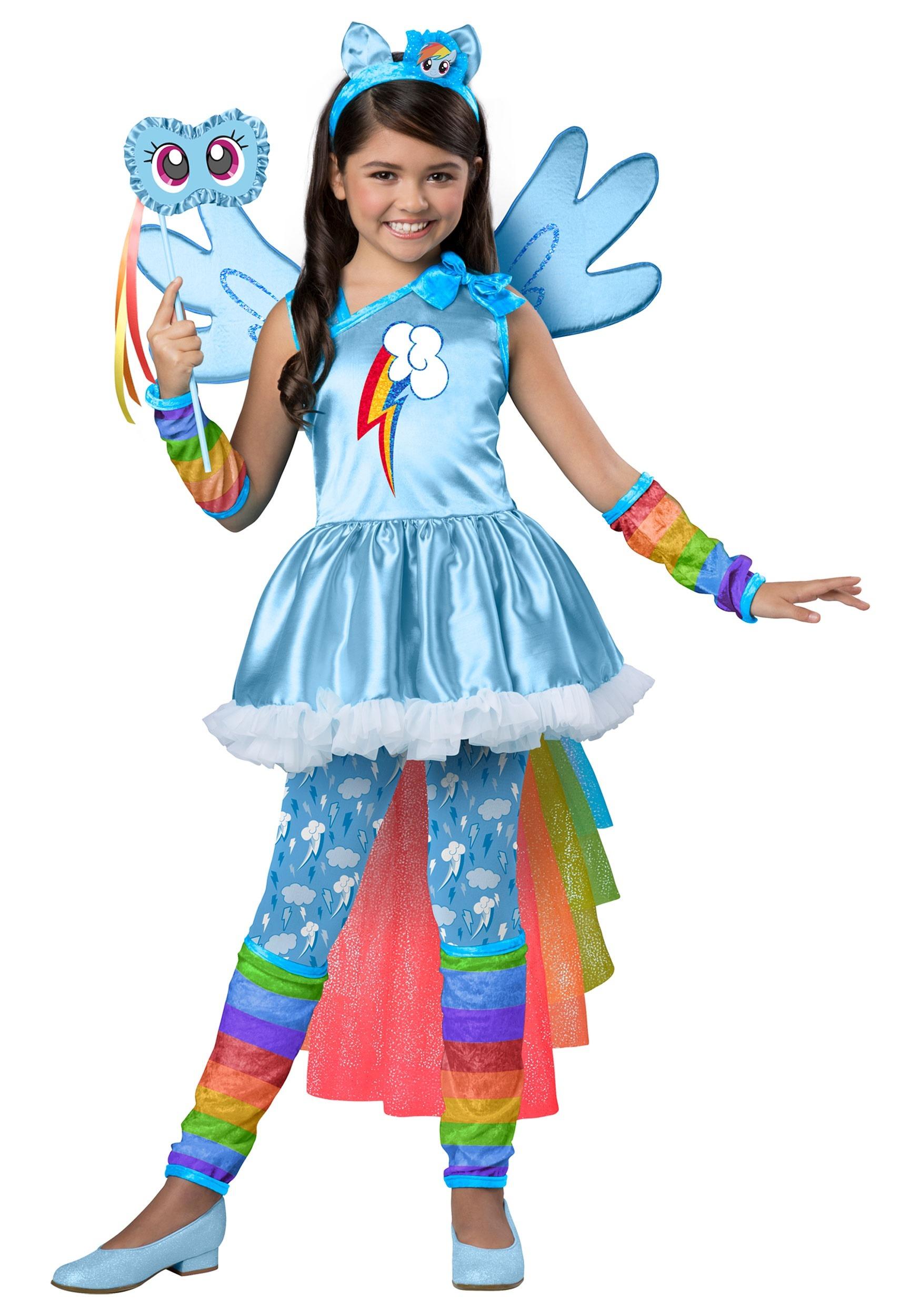 Girls Premium My Little Pony Rainbow Dash Costume