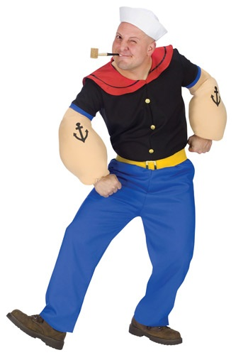 Popeye the sailor man costume ideas - Adult Popeye Costume