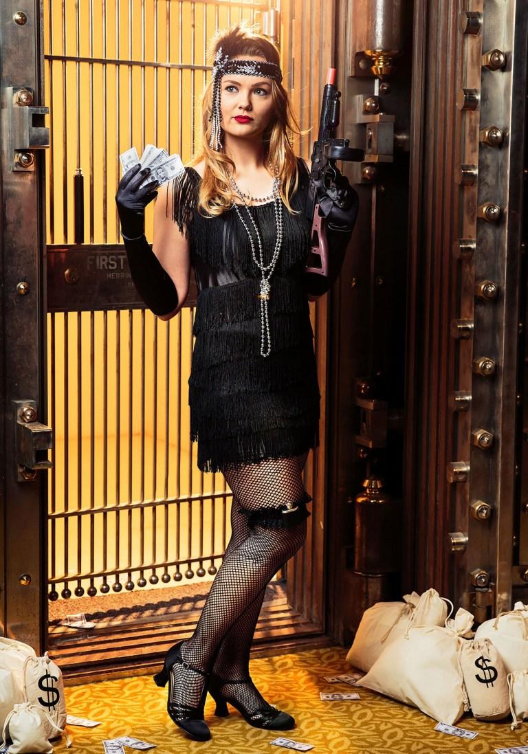 Black Fringe 1920's Flapper Costume