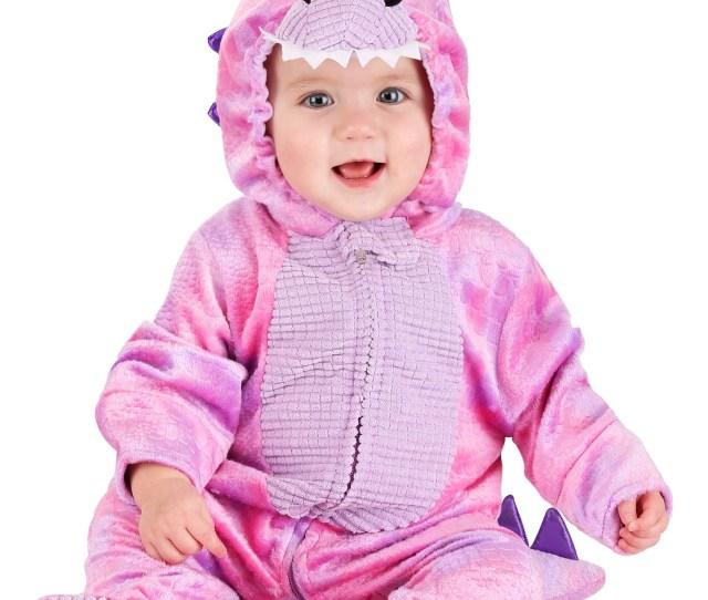 Sleepy Pink Dino Infant Costume