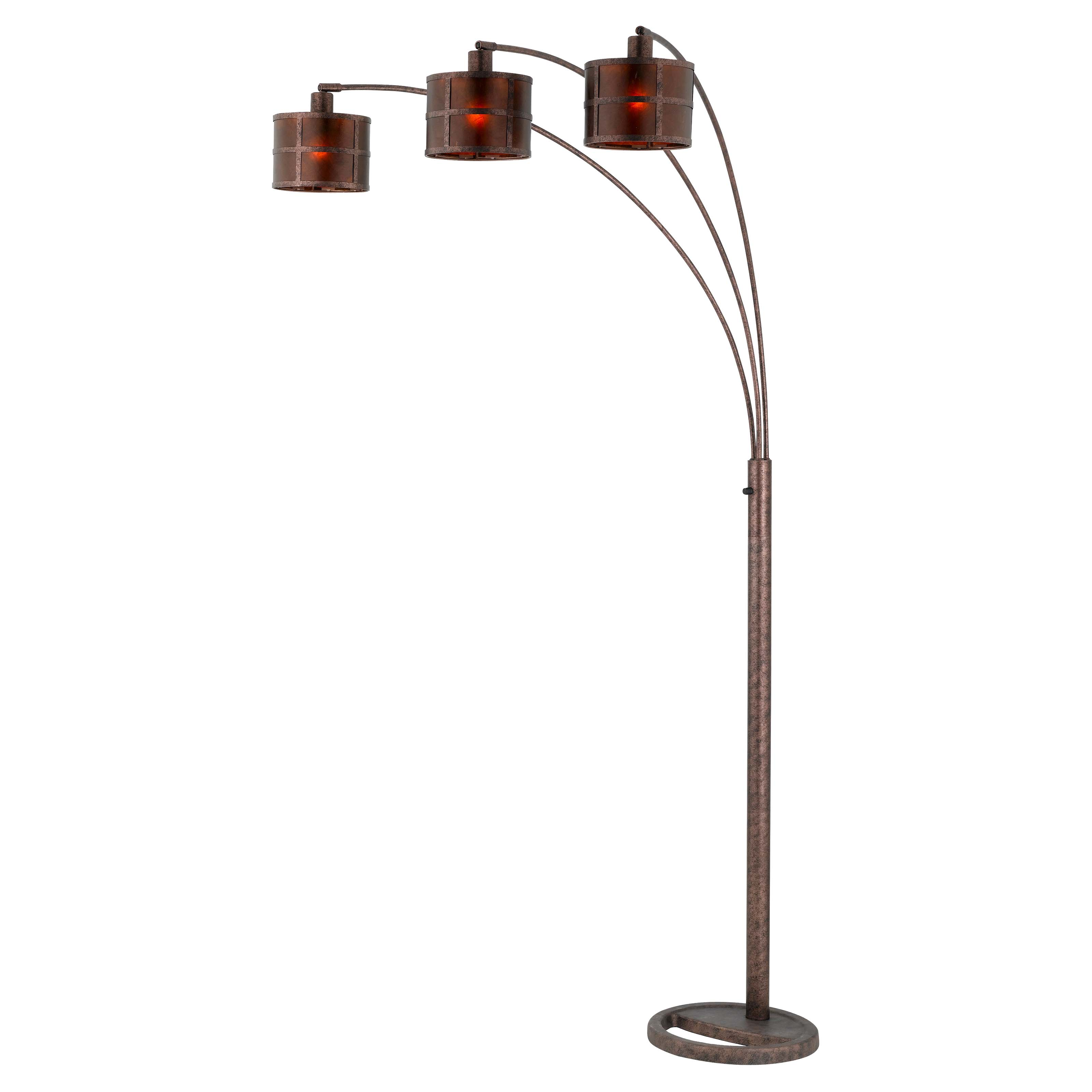 Cal Lighting Bo Mica Arc Metal Floor Lamp With 3 Way