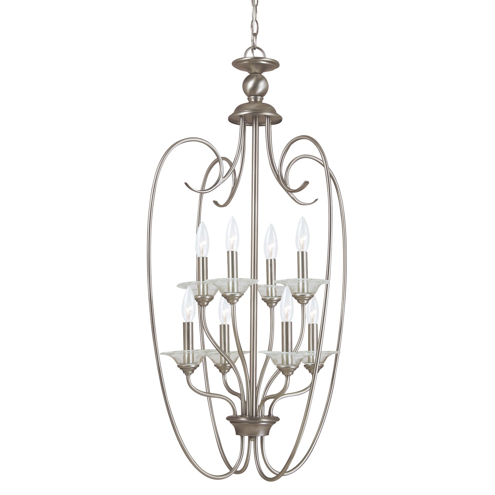 Sea Gull Lighting Lemont 8 Light Candelabra Hall Foyer