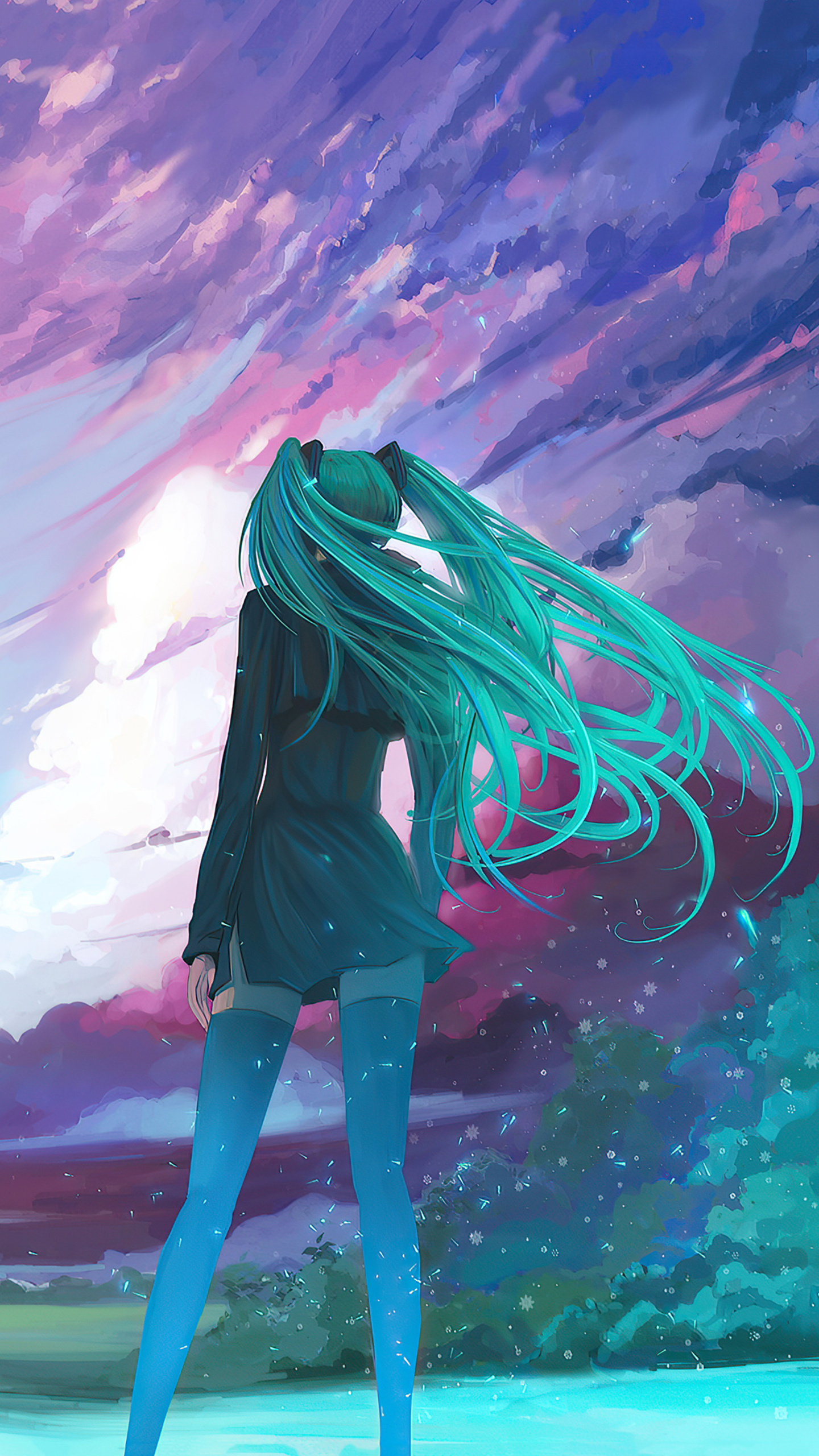 Google's pixel 5 live wallpaper set have made their way to the web, and you can download them here for your android phone. 1440x2560 Anime Girl Long Hair Cold Winds 4k Samsung ...