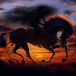 2560x1700 Horse Sunset Painting Artwork Chromebook Pixel Hd 4k Wallpapers Images Backgrounds Photos And Pictures
