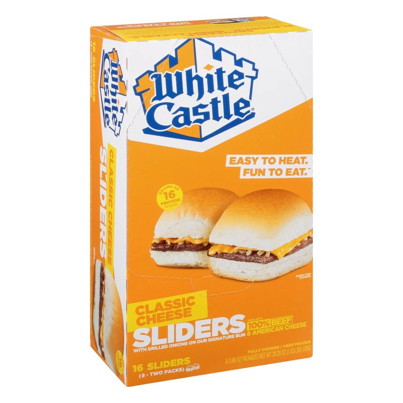 white castle microwaveable cheeseburgers