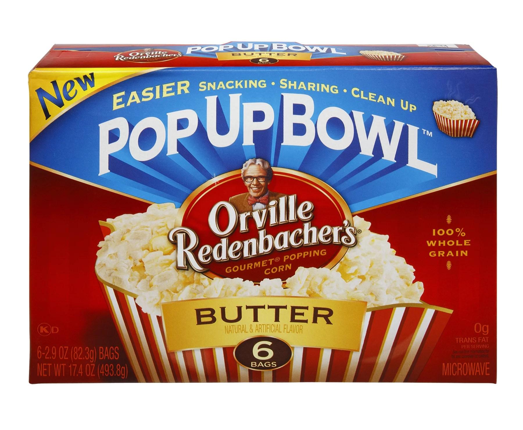 pop up bowl butter popcorn