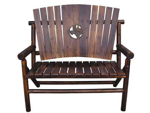 char log medallion bench shop chairs
