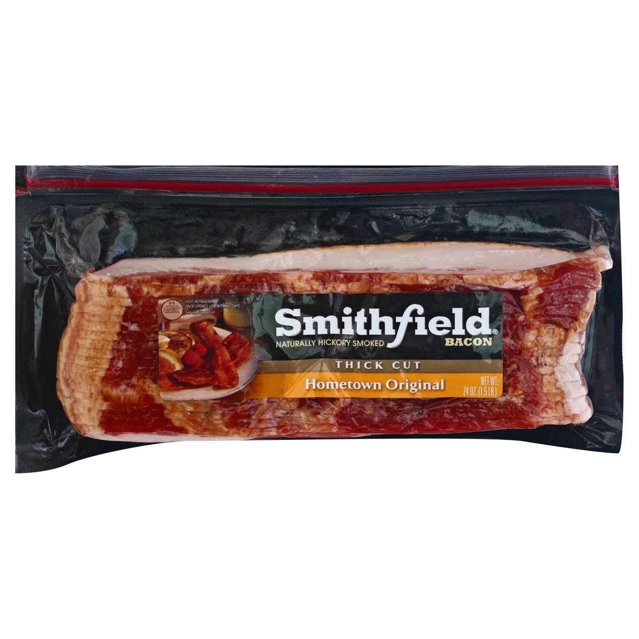 smithfield thick cut hometown original bacon