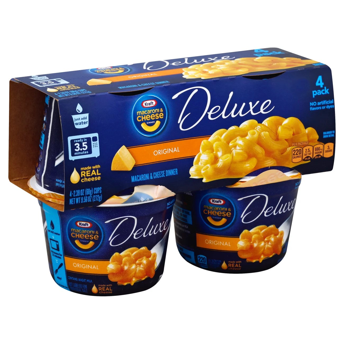 kraft deluxe macaroni and cheese cups original