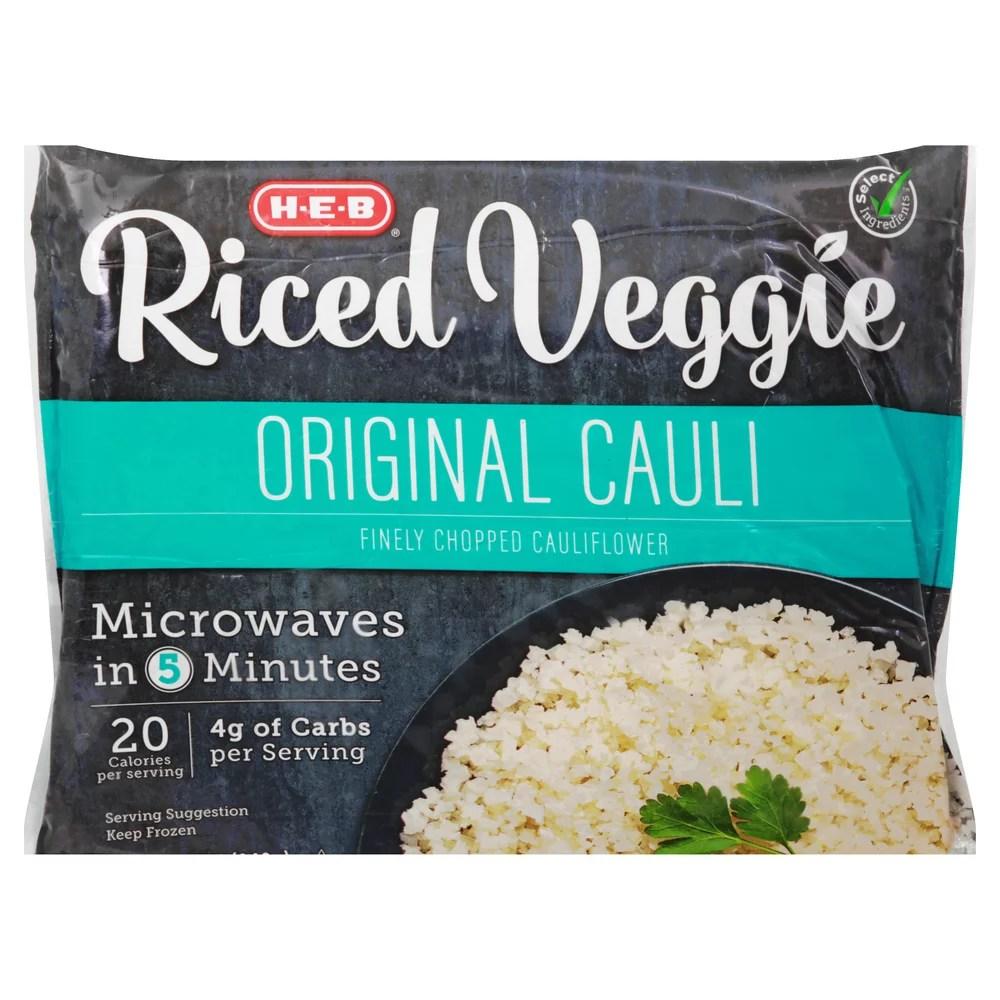 h e b select ingredients riced original cauliflower