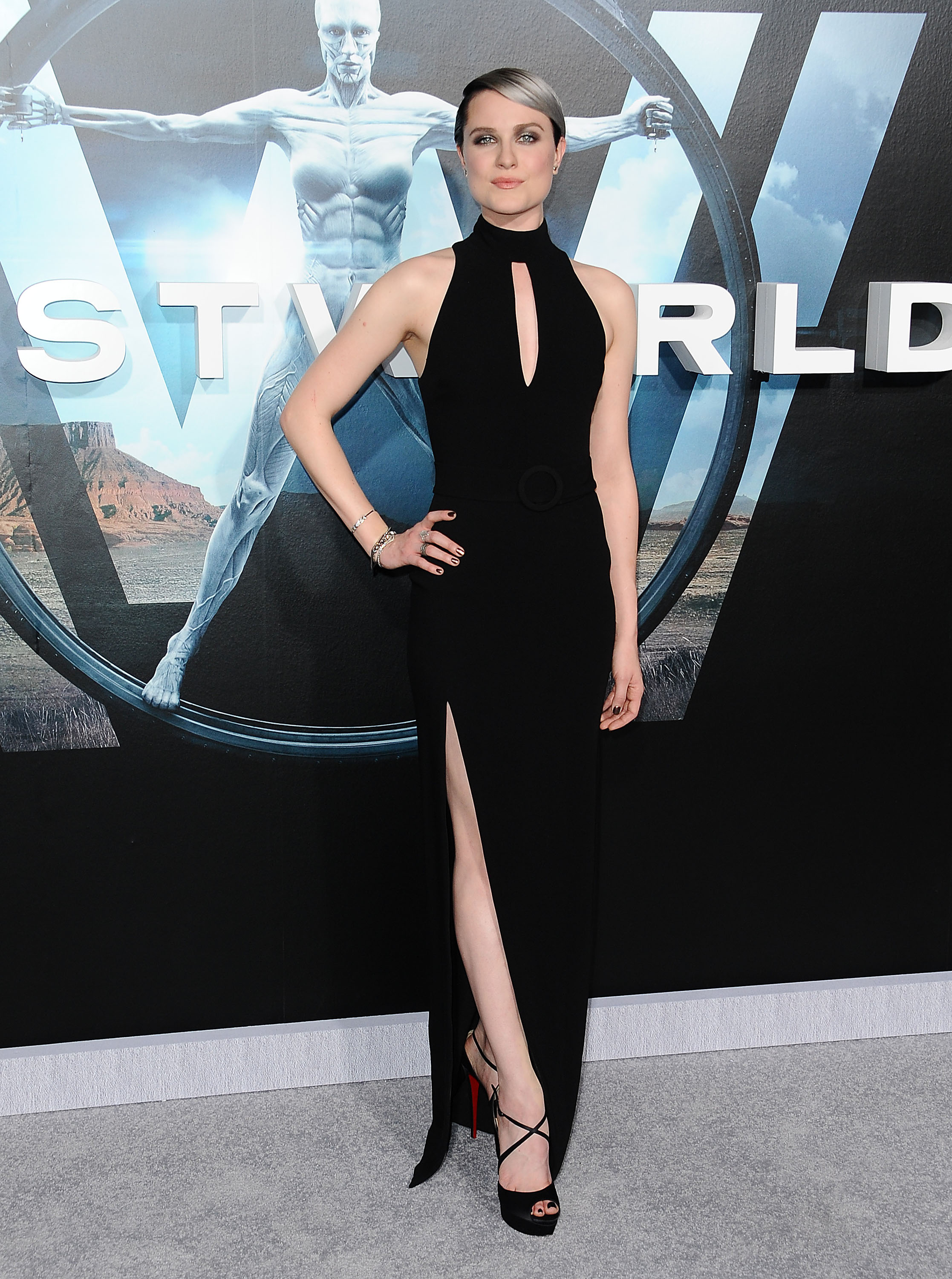 Evan Rachel Woods Silver Ombre Hair At The Westworld