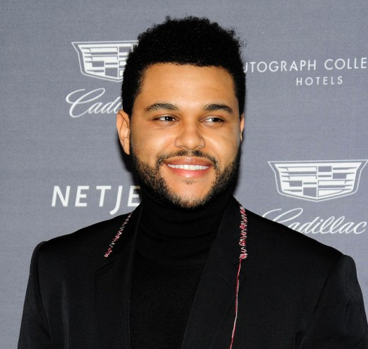 The Weeknd cut off all his hair so that he could... sleep ...