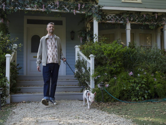 Image result for gilmore girls a year in the life kirk pig gif