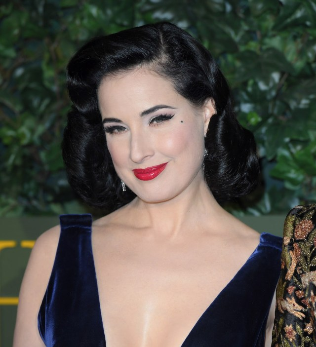 "dita von teese proves she's a ""silver fox"" with her latest"