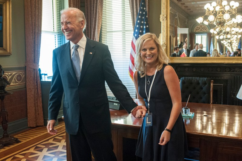 President Obama just surprised Joe Biden with the Presidential Medal of Freedom, and somewhere Leslie Knope is sobbing