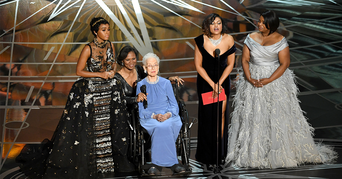 The Cast Of Hidden Figures Brought The Real Katherine
