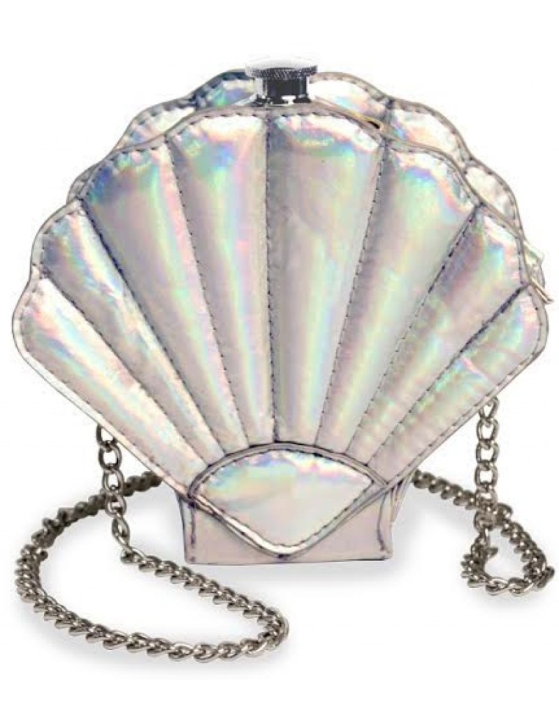 Calling all mermaidens, this hidden seashell flask is the perfect accessory to take secret swigs